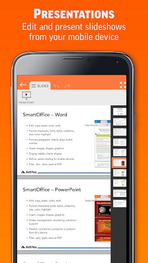 SmartOffice - View & Edit MS Office files & PDFs 3.9.10 Screenshots 3