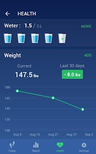 Step Counter - Pedometer Free & Calorie Counter Screenshot