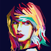 Stars Color By Number - Sandbox Coloring Pixel Art