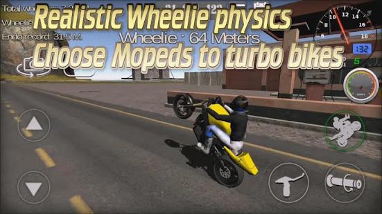 Wheelie King 3D - Realistic free  motorbike racing 1.0 Screenshots 1