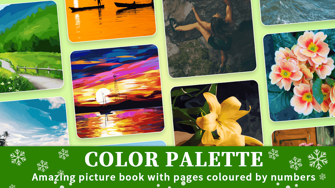 Color Palette - Oil Painting Color by Number