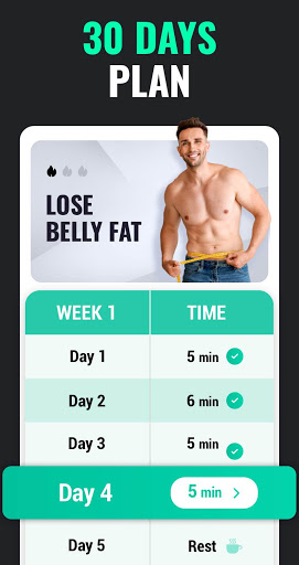 Lose Weight App for Men - Weight Loss in 30 Days apkpoly screenshots 2