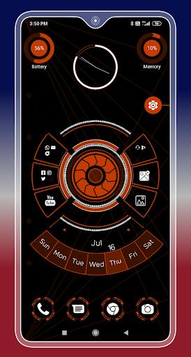 Compact Hitech Launcher - sci-fi, win style Themes 4.0 Screenshots 15