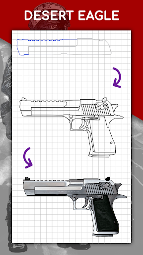 How to draw weapons step by step, drawing lessons  screenshots 7
