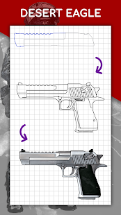 How to draw weapons step by step, drawing lessons 1.6.4 Screenshots 7