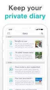 Simple Diary: journal with lock, emotional tracker Screenshot