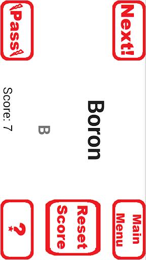 periodic table study game screenshot 2