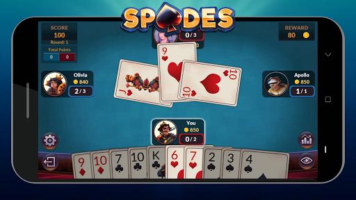 Spades - Offline Free Card Games android2mod screenshots 7