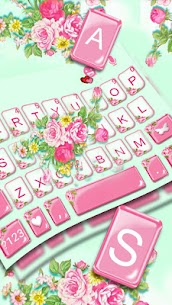 Pink Flower Garden Keyboard Theme 1.0 Android Mod APK 2