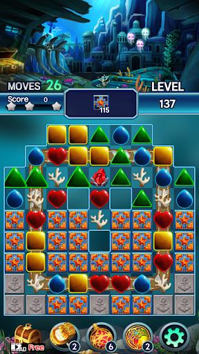 Jewel ocean world: Match-3 puzzle Apkfinish screenshots 4