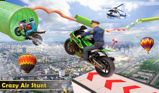 Police Bike Stunt GT Race Game Apkfinish screenshots 9