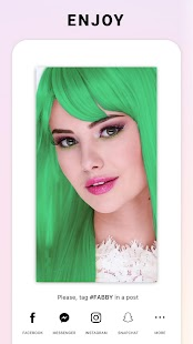 Fabby Look — hair color changer & style effects Screenshot