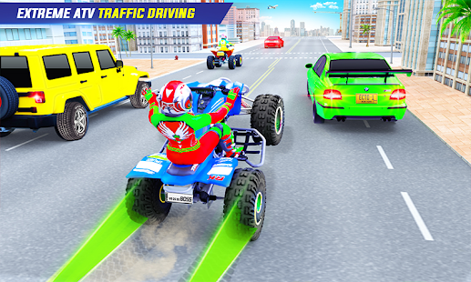 Light ATV Quad Bike Racing, Traffic Racing Games 19 Screenshots 4