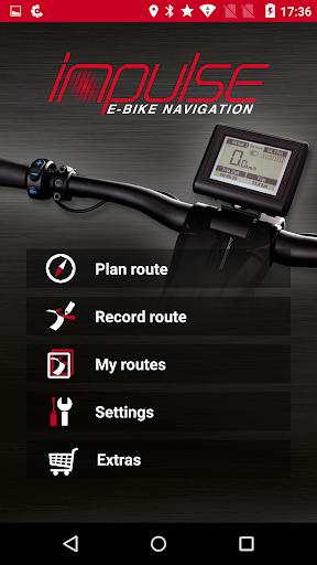 impulse e-bike navigation screenshot 1