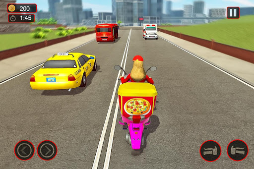 Moto Bike Pizza Delivery u2013 Girl Food Game 1.0 screenshots 8