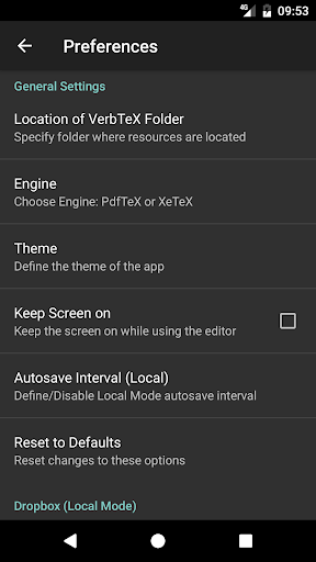 VerbTeX LaTeX Editor android2mod screenshots 4