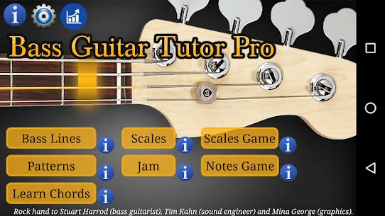 Bass Guitar Tutor Pro – Learn To Play Bass Mod Apk v132 (Paid) 1