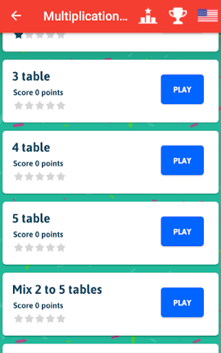 Multiplication Tables - Free Math Game  screenshots 3
