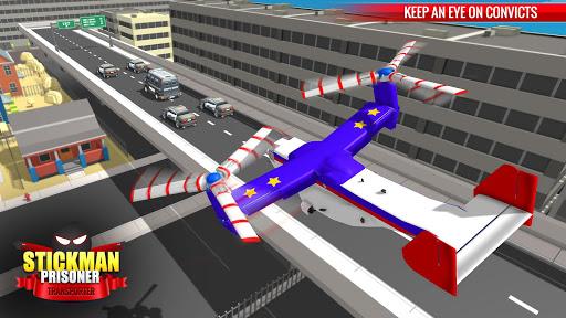 US Police Stickman Criminal Plane Transporter Game 4.7 screenshots 2