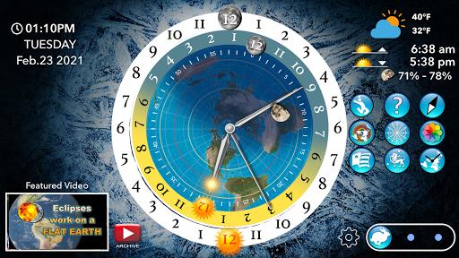 Flat Earth Sun, Moon & Zodiac Clock  screenshots 3