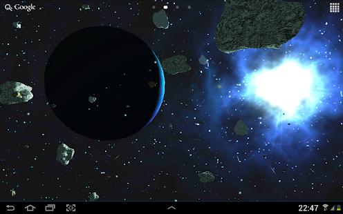 Asteroids 3D live wallpaper