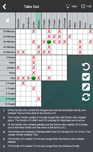 Logic Puzzles Daily - Solve Logic Grid Problems 1.0.8 screenshots 9