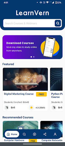 Free Online Courses & Tutorials + Certi LearnVern android2mod screenshots 3