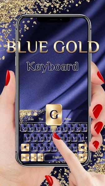 Blue Gold Luxury Keyboard