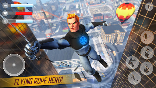 Rope Superhero War : Superhero Games : Rescue Hero 1.0 Screenshots 1