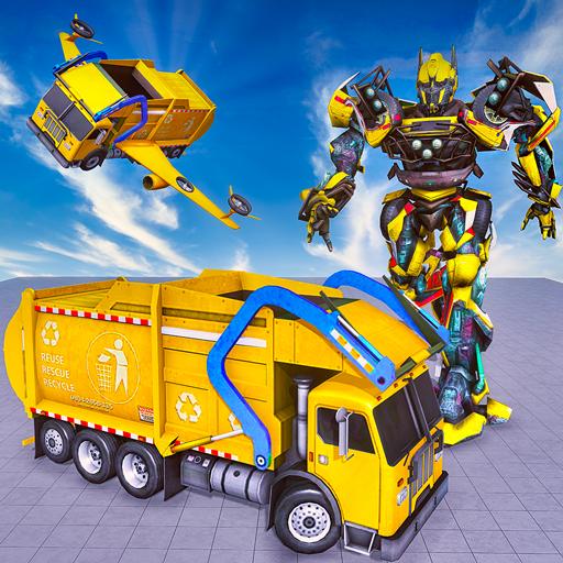 Pesado Lixo Caminhão Robô Guerras: vôo robô jogos