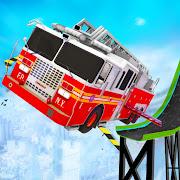 Firefighter Truck Transform Racing Ramp Stunt Game
