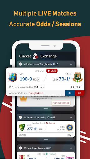 Live Line & Cricket Scores - Cricket Exchange  Screenshots 3