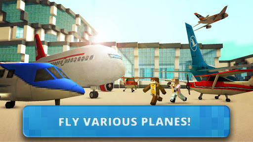 Airport Craft: Fly Simulator Boys Craft Building  screenshots 1