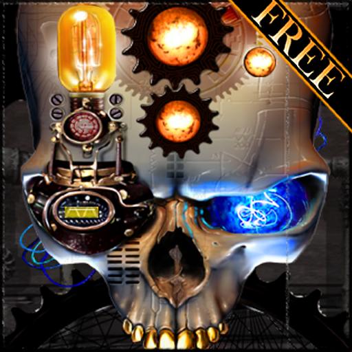 Steampunk Skull Free Wallpaper