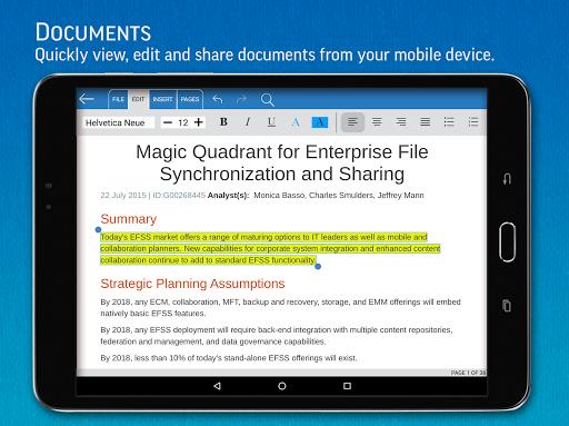 SmartOffice - View & Edit MS Office files & PDFs 3.9.10 Screenshots 15
