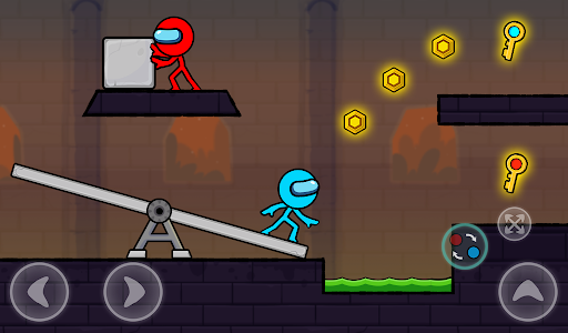 Red and Blue Stickman : Season 2 android2mod screenshots 10