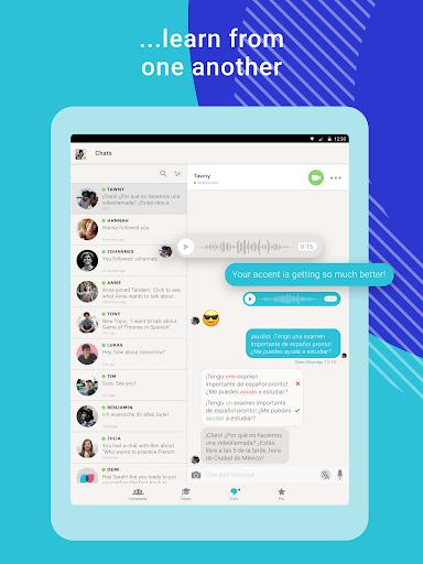 Tandem Language Exchange: Speak & learn languages 2.4.2 Screenshots 11