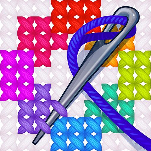 Cross Stitch Coloring Blitz