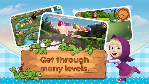 Masha and the Bear: Kids Fishing  screenshots 3