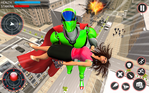 Light Speed Robot Hero - City Rescue Robot Games 1.0.2 screenshots 3