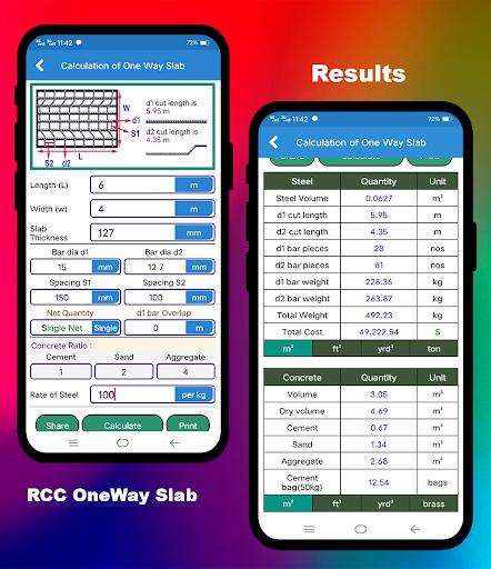 Civil Calculation PRO screen 1