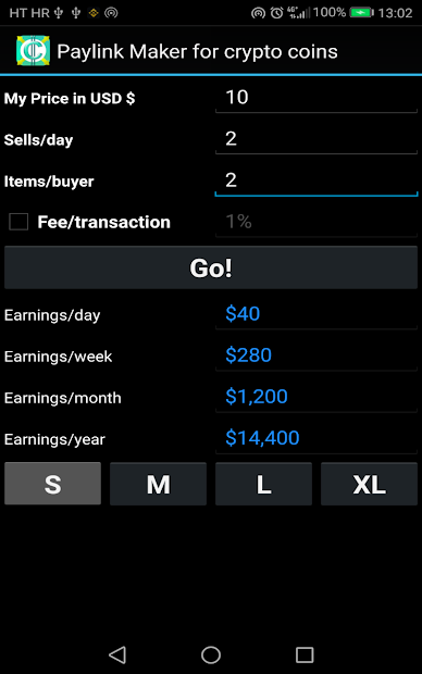 PayLink Maker for crypto currency coins screenshot 11