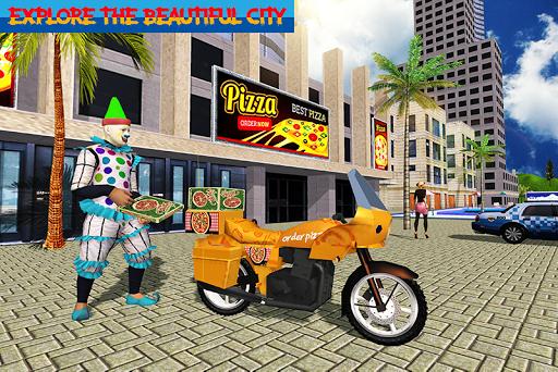 Scary Clown Boy Pizza Bike Delivery apkdebit screenshots 3