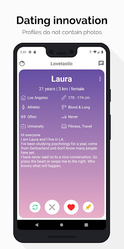 Lovetastic - Dating without picture on the profile  screenshots 1