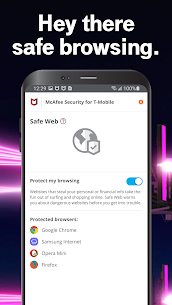 Free McAfee® Security for T-Mobile 4