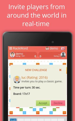 Rackword - Free real-time multiplayer word game screenshots 17