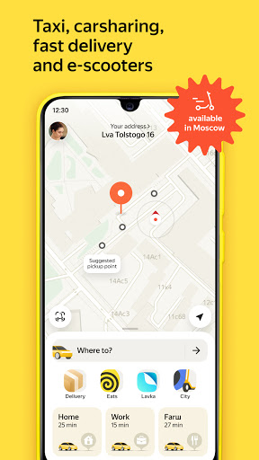 Yandex Go — taxi and delivery  screenshots 1