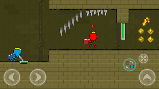 Red and Blue Stickman : Animation Parkour 1.0.6 screenshots 5