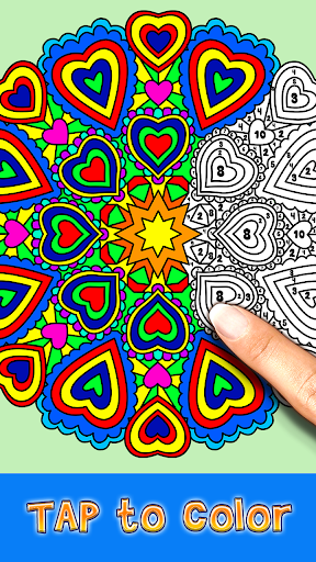 number coloring – coloring book - paint by number screenshot 2