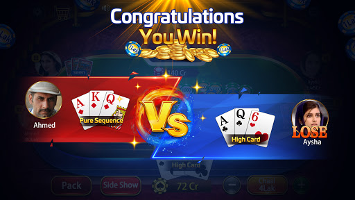 Taash Gold - Teen Patti Rung 3 Patti Poker Game 2.0.20 screenshots 3